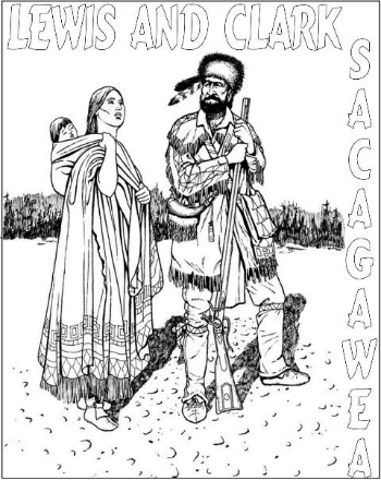 Lewis & Clark Coloring Sacagawea
