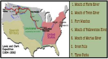 Lewis & Clark map