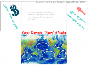 Ocean Currents Minibook @ Tina's Dynamic Homeschool Plus