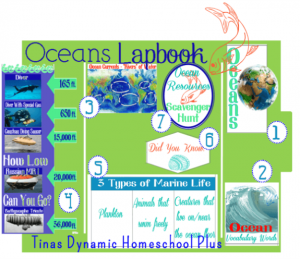 Ocean Lapbook @ Tina's Dynamic Homeschool Plus