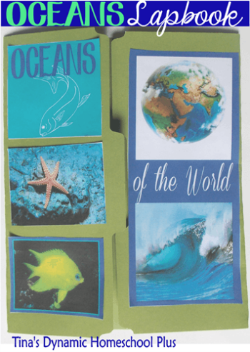 Ocean Lapbook Cover Ideas @ Tina's Dynamic Homeschool Plus