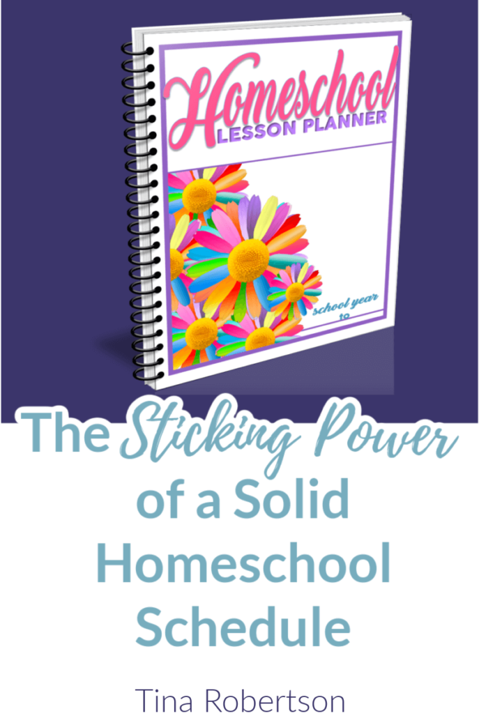 The staying power of a homeschool schedule cannot be underestimated for the organized homeschooler. It takes time and self-discipline though to stick to a schedule. Click here to grab these tried and true tips for planning a schedule!