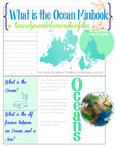 What is the Ocean Minibook @ Tina's Dynamic Homeschool Plus
