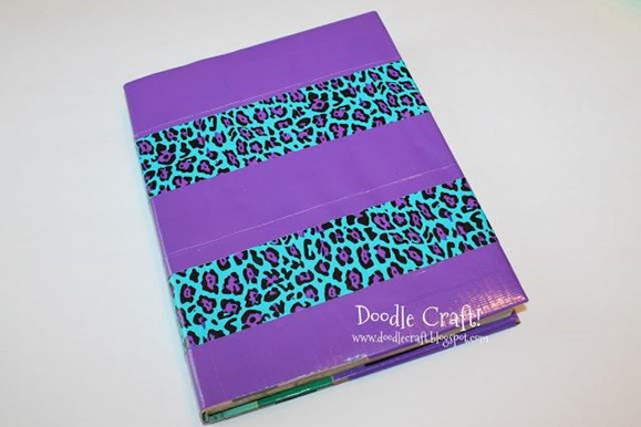 back to school duct tape duck tapes crafts projects book cover tutorial how to cover a textbook