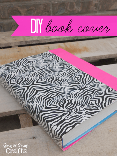 diy book cover with