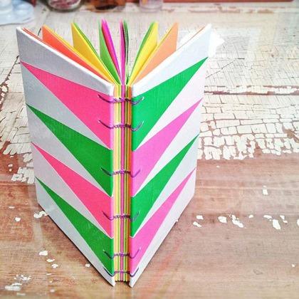 duct tape rainbow journal