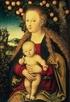 virgin and child under apple tree