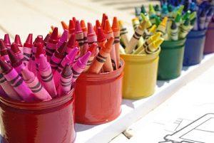 Color-Coded Crayon Buckets