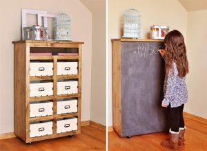 DIY Crate Storage