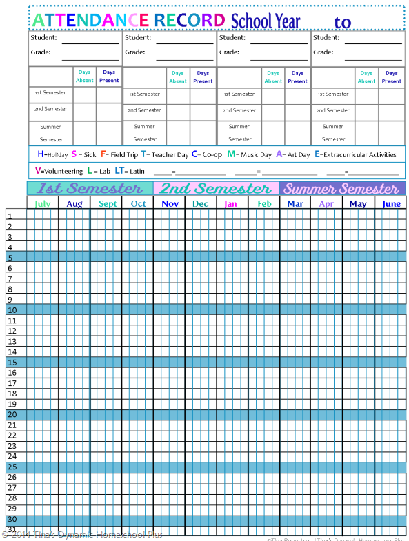 Sunday school attendance sheet template
