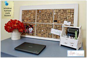 Window Cork Board