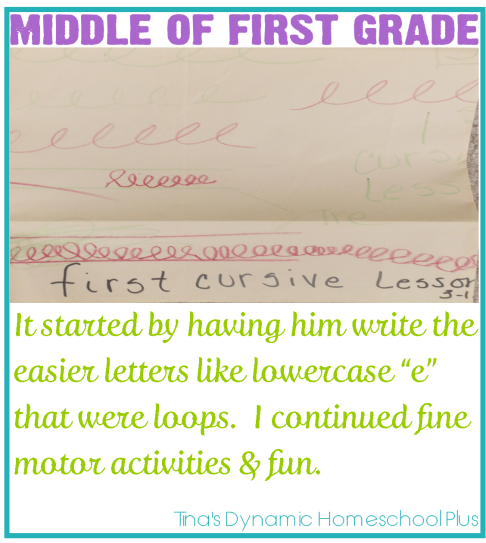 Teaching Handwriting When Homeschooling the Early Years Part 3 Middle of First Grade