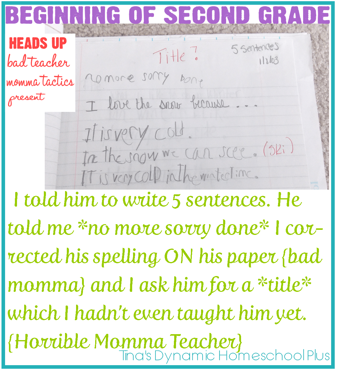 Teaching Handwriting When Homeschooling the Early Years Part 3 Beginning of Second Grade-1