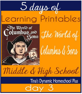 5 Days Of Learning Printables About the World of Columbus and Sons day 3