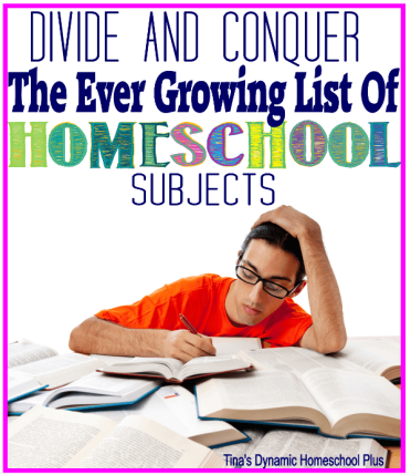 Divide and Conquer the Ever Growing List of Homeschool Subjects