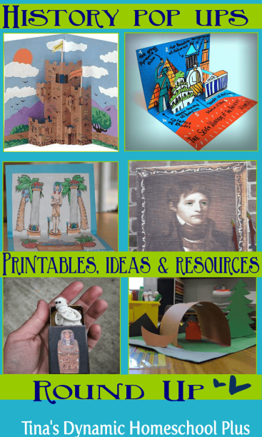 History Pop Up Printables, Ideas and Resources Roundup | Tina's Dynamic Homeschool Plus