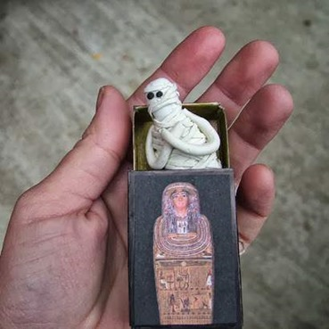 Pop-up Matchbook Sarcophagus