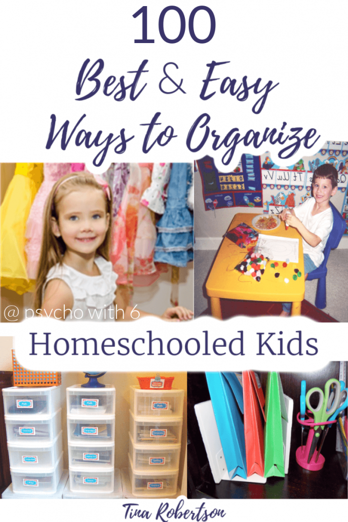 100 Best and Easy Ways to Organize Homeschooled Kids