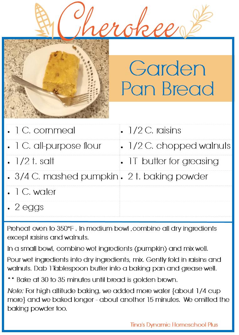 Cherokee Garden Pan Bread