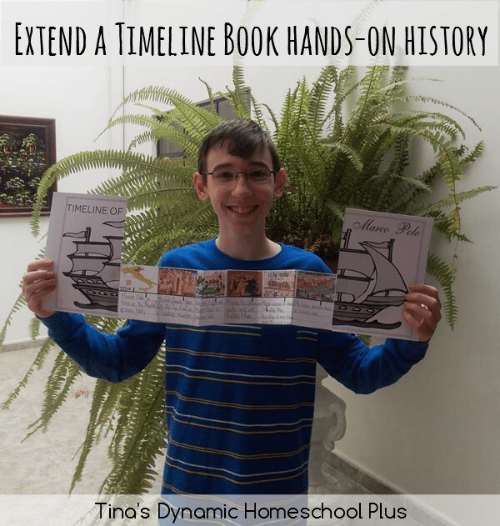 Finished Extend a Timeline Book Marco Polo Unit Study @ Tina's Dynamic Homeschool Plus