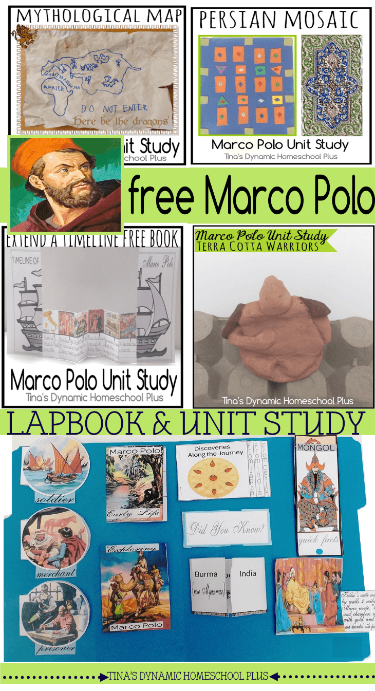 Free Marco Polo Lapbook, Unit Study and Hands-On Activities @ Tina's Dynamic Homeschool Plus