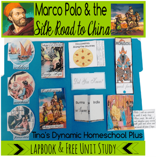 Free Marco Polo Lapbook and Unit Study @ Tinas Dynamic Homeschool Plus