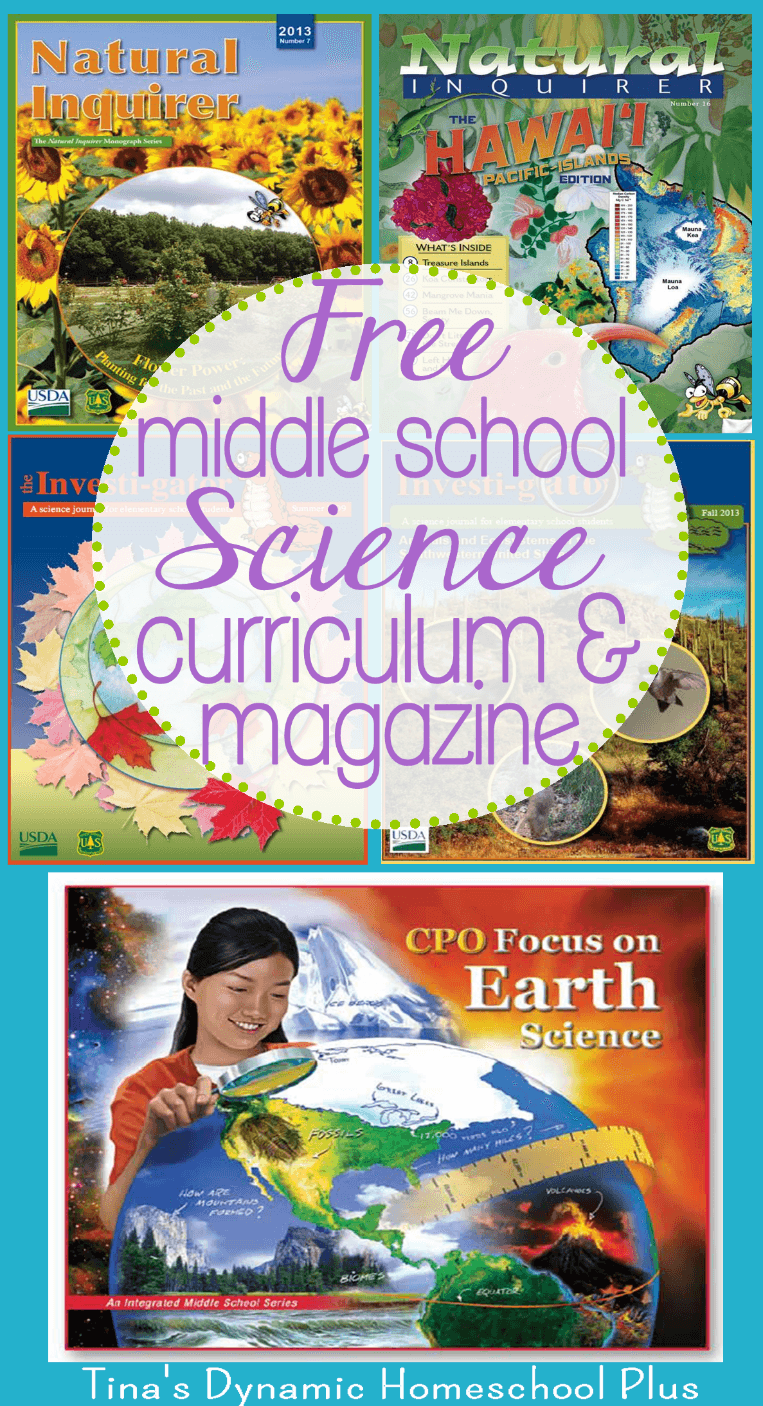 Free Middle School Science Curriculum and Magazine. Scoot by and download these AWESOME free resources for your middleschool kids!