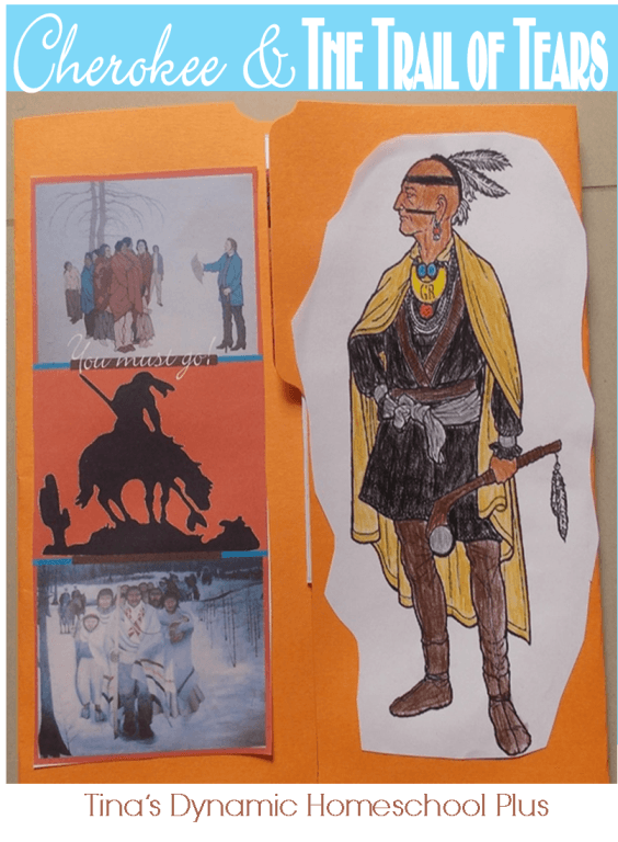 Front of Trail of Tears Lapbook