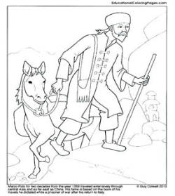 Marco Polo Coloring Sheet @ Tina's Dynamic Homeschool Plus