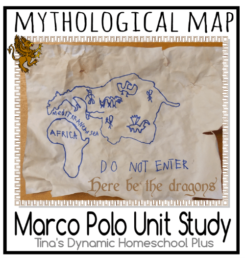 Marco Polo Mythological Map @ Tina's Dynamic Homeschool Plus