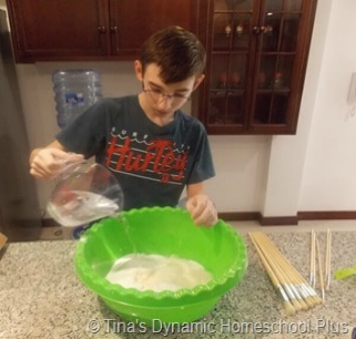 Marco Polo Salt Dough Map Step 2 @ Tina's Dynamic Homeschool Plus