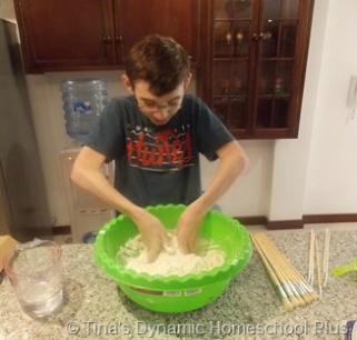 Marco Polo Salt Dough Map Step 3 @ Tina's Dynamic Homeschool Plus