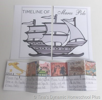 Marco Polo Timeline Step 6 @ Tina's Dynamic Homeschool Plus