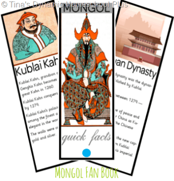 Mongol Fan Book @ Tina's Dynamic Homeschool Plus