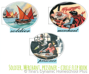 Soldier Merchant Prisoner Circle Flip Book @ Tina's Dynamic Homeschool Plus