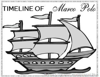 Timeline of Exploration Marco Polo Printables @ Tina's Dynamic Homeschool Plus