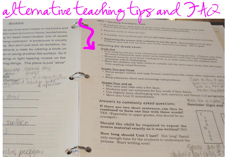 alternative teaching tips and faq