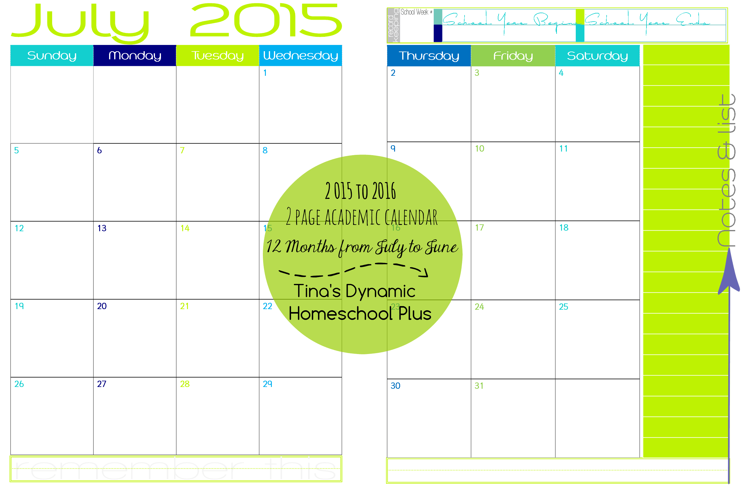 printable monthly calendar templates 2015