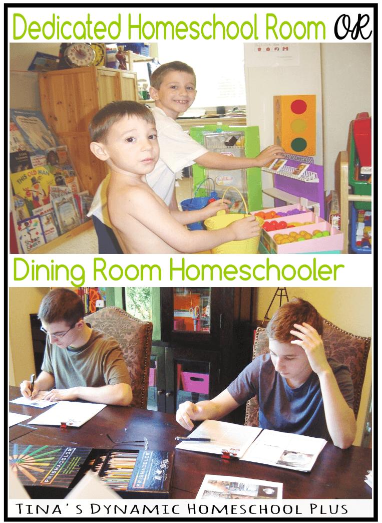 Dedicated Homeschool Room or Dining Room Homeschooler @ Tina's Dynamic Homeschool Plus