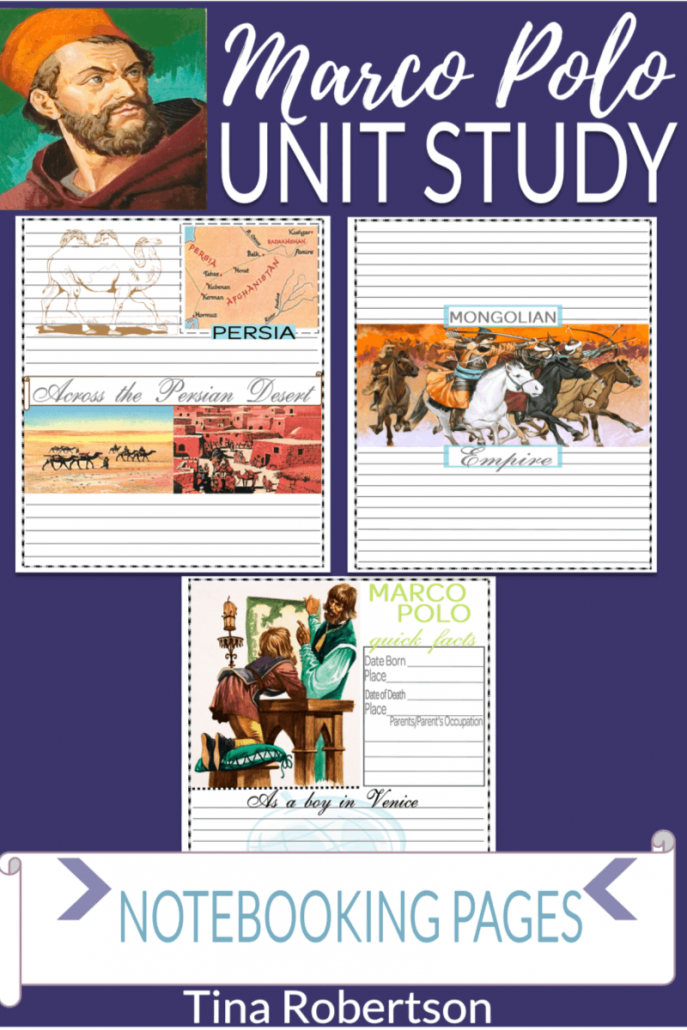 Free Marco Polo Unit Study Notebooking Pages