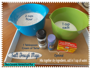 Marco Polo Unit Study - Salt Dough Map + Free Printable Map Flags