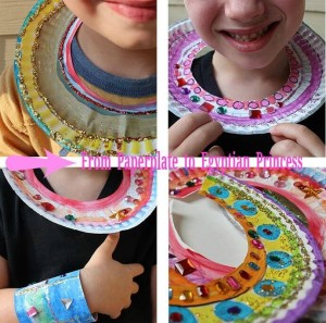 from paperplate to egyptian necklace