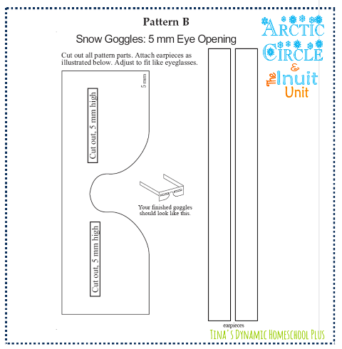 Arctic Snow Goggles Template @ Tina's Dynamic Homeschool Plus