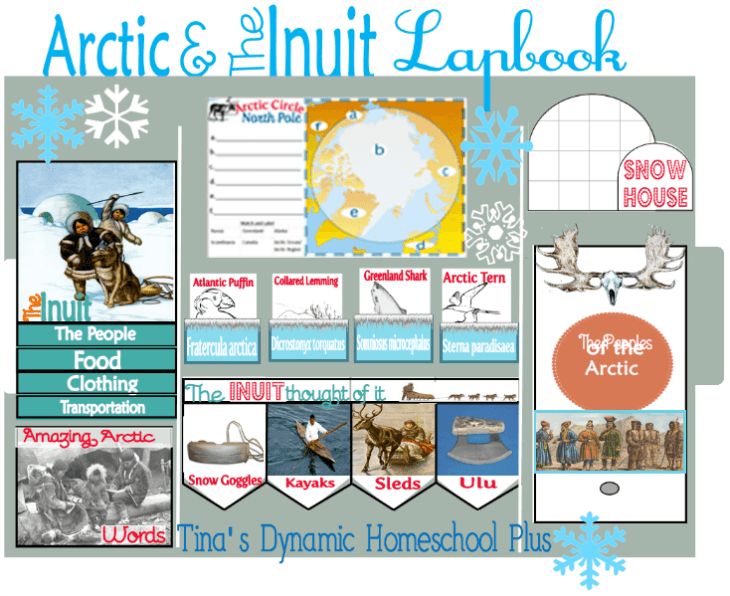 Arctic and Inuit Free Lapbook @ Tina's Dynamic Homeschool Plus