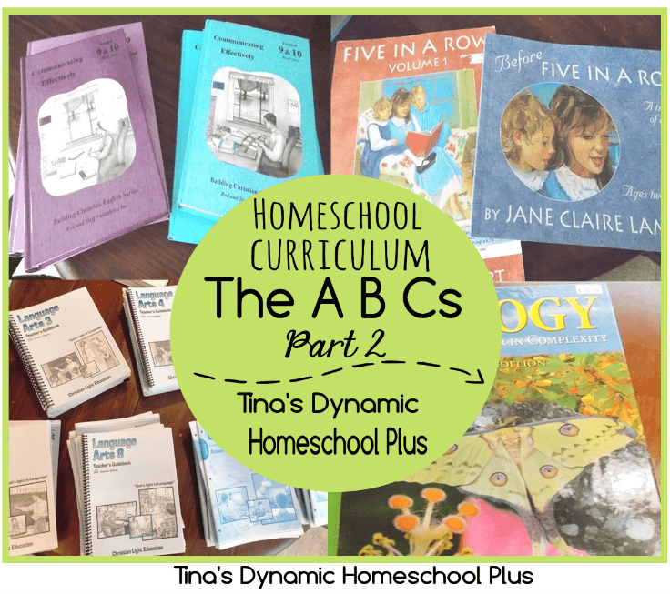 Homeschool Curriclum The ABCs Part 2 @ Tina's Dynamic Homeschool Plus