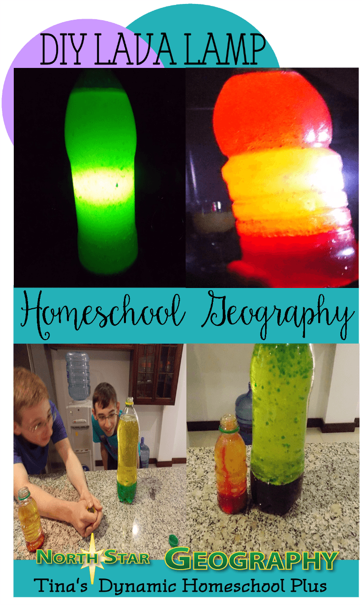 Homeschool Geography - DIY Lava Lamp @ Tina's Dynamic Homeschool Plus