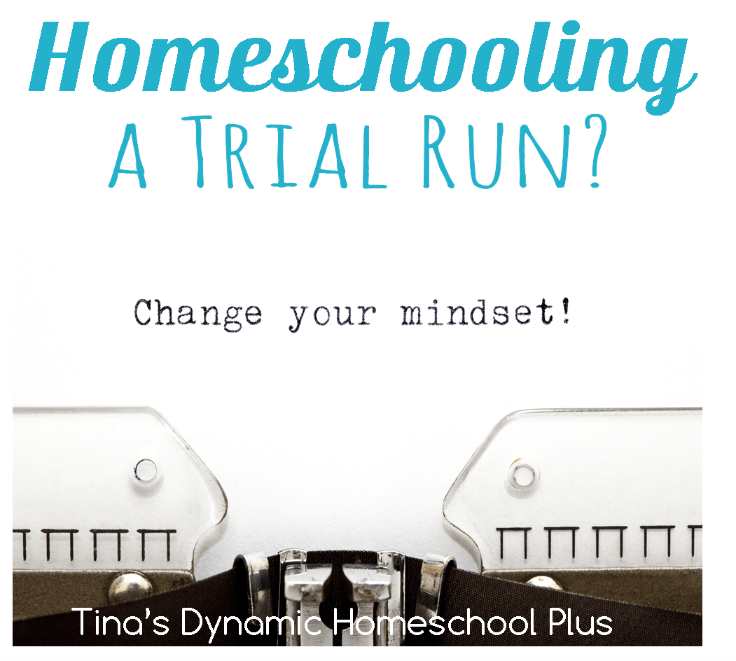 Homeschooling A Trial Run @ Tina's Dynamic Homeschool Plus