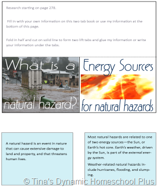 Natural Hazards @ Tina's Dynamic Homeschool Plus