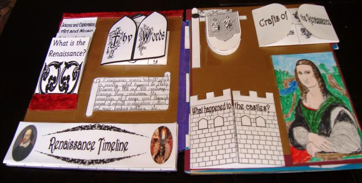 Grab this free Renaissance Lapbook at Tina's Dynamic Homeschool Plus