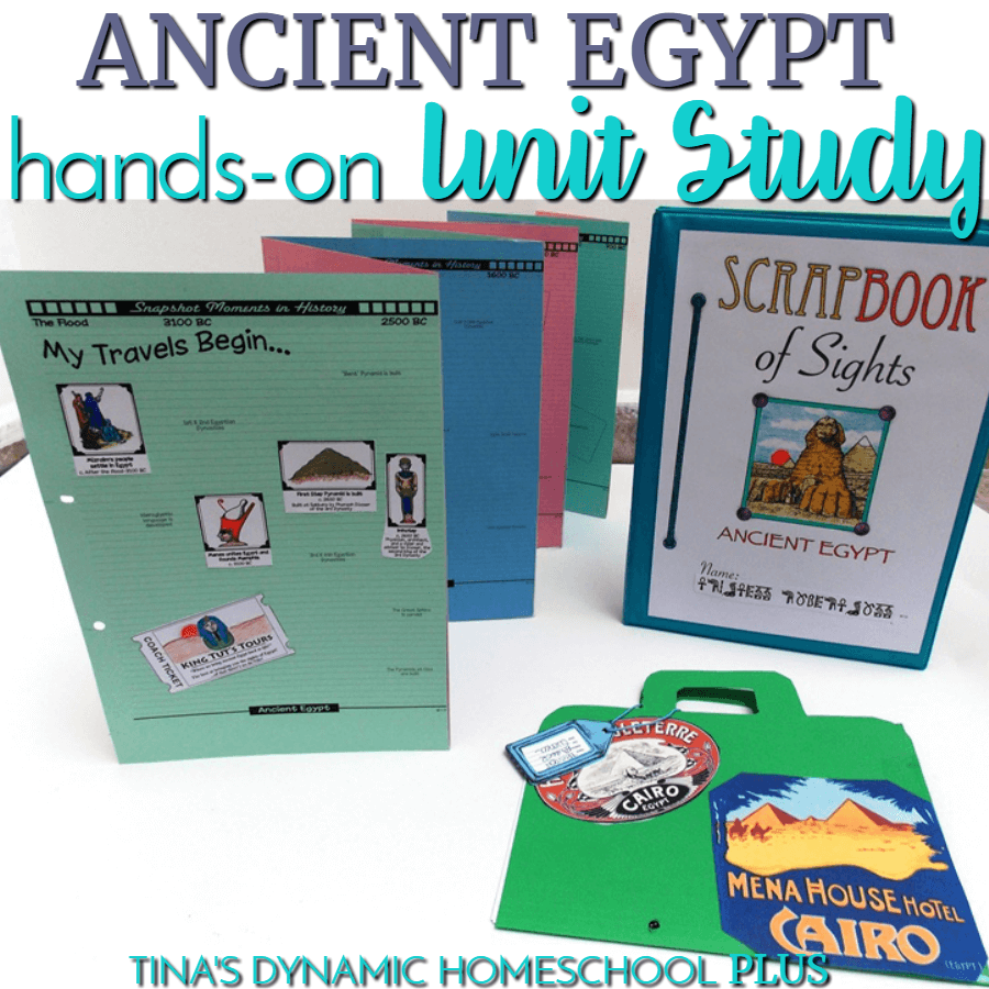 Take a trip through history and discover cultures at another era of time with hands-on projects and activities that drive the lessons home in a fun way! You'll love this Ancient Egypt Hands-on Homeschool Unit Study. CLICK HERE to get it!